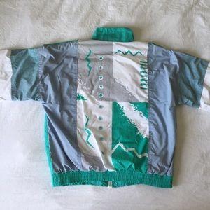 Vintage 90s Wilson Windbreaker Jacket, Size Medium